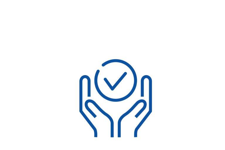 Ręce obejmujące symbol
